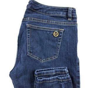 Michael Kors Skinny Medium Wash Blue Stretch Jeans